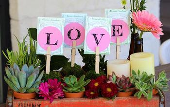 Vintage Soda Crate Floral Arrangement for Valentine's Day