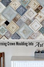 crown moulding scraps into home decor, diy, home decor, wall decor, woodworking projects