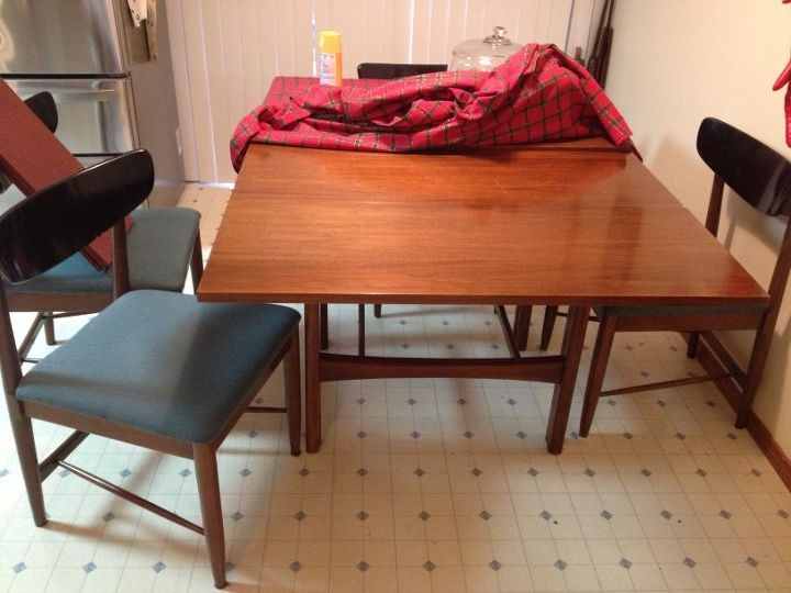 1960's Danish Modern Dining Table and chairs