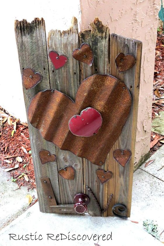Corrugated Metal Hearts