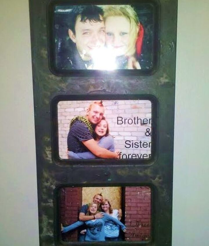 On my wall! With pictures my friends gave me! :)