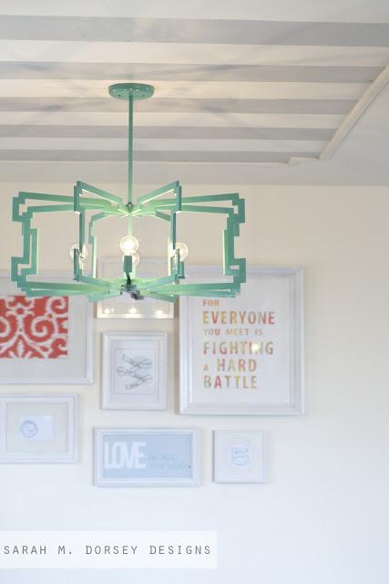 diy statement light fixture, diy, how to, lighting