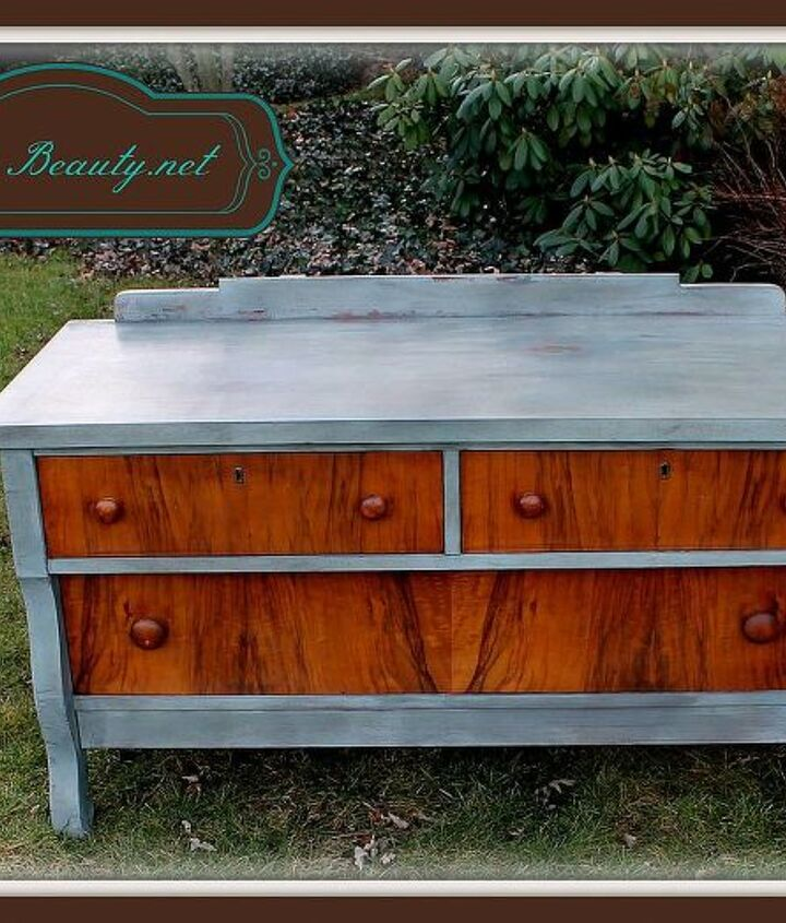 head on over and see i how i saved what i could of the wood on this empire dresser, home decor, painted furniture
