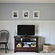 updating a wall with board and batten, paint colors, wall decor, The board and batten wall has really lightened up this space and has made the room feel bigger