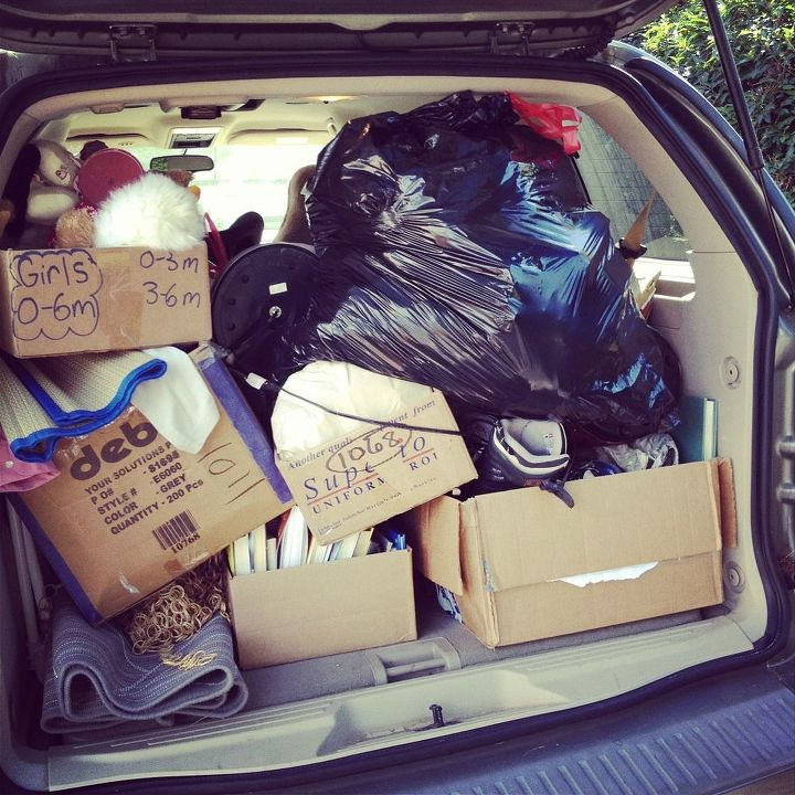Finally, if your goal was to declutter, load the leftovers in the car IMMEDIATELY after the sale for donation!