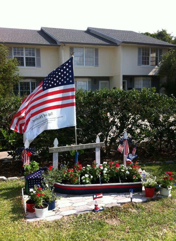 landscaping memorial day or july 4th ideas, flowers, gardening, patriotic decor ideas, seasonal holiday d cor, Memorial Day or July 4th ideas