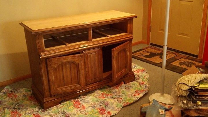 1980 s buffet, painted furniture, BEFORE