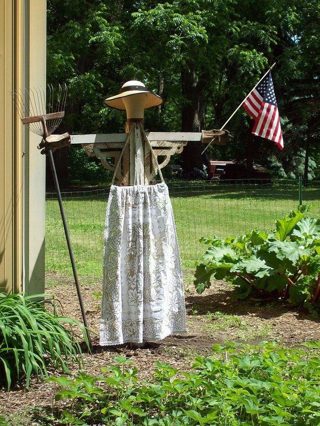 american garden angel, gardening, repurposing upcycling