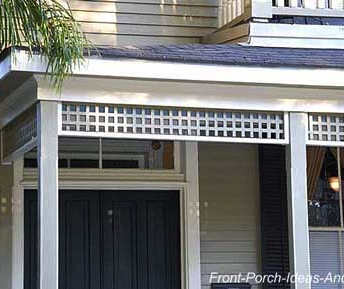 This homeowner used a lattice-type running trim to create a more simplistic look that works really well.