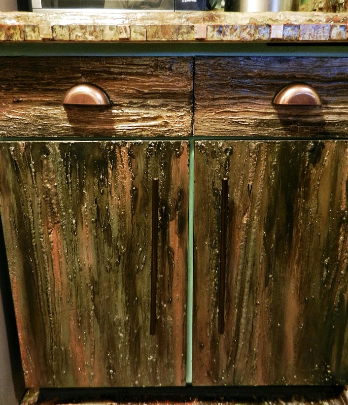 unusual bizzare kitchen project, home decor, kitchen cabinets, kitchen design, painting