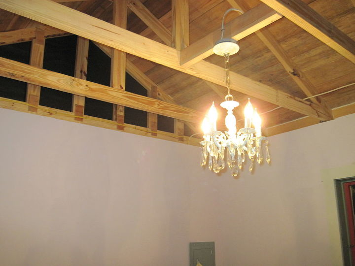 Salvaged chandelier makes a nice accent