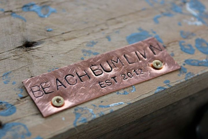 http://beachbumlivin.comHand stamped copper!