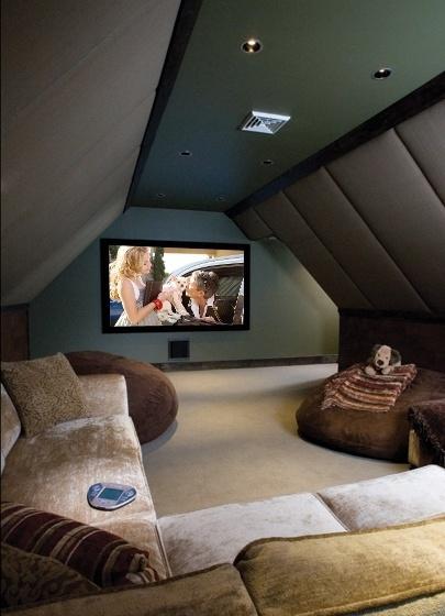 attic idea tv room, entertainment rec rooms