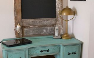 painted desk makeover, painted furniture