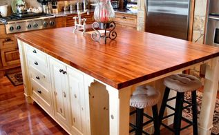 the top 10 which countertop material is right for you, concrete countertops, countertops, kitchen design, Wood Countertops Would they work in your kitchen