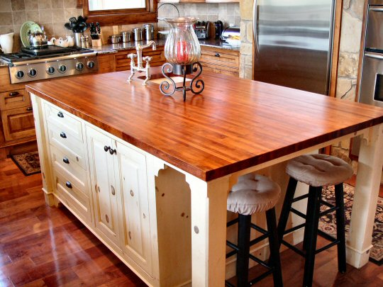 Wood Countertops - Would they work in your kitchen? http://bit.ly/dNxmpB