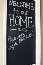 front porch diy chalkboard, chalkboard paint, crafts, painting, repurposing upcycling