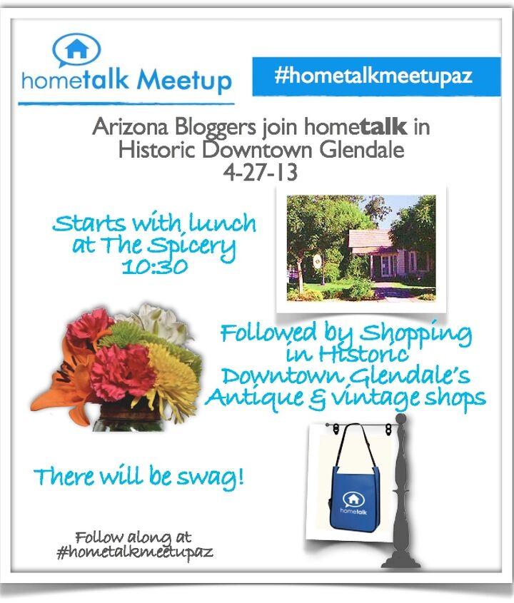 Hometalk meetup in Glendale Arizona flyer.