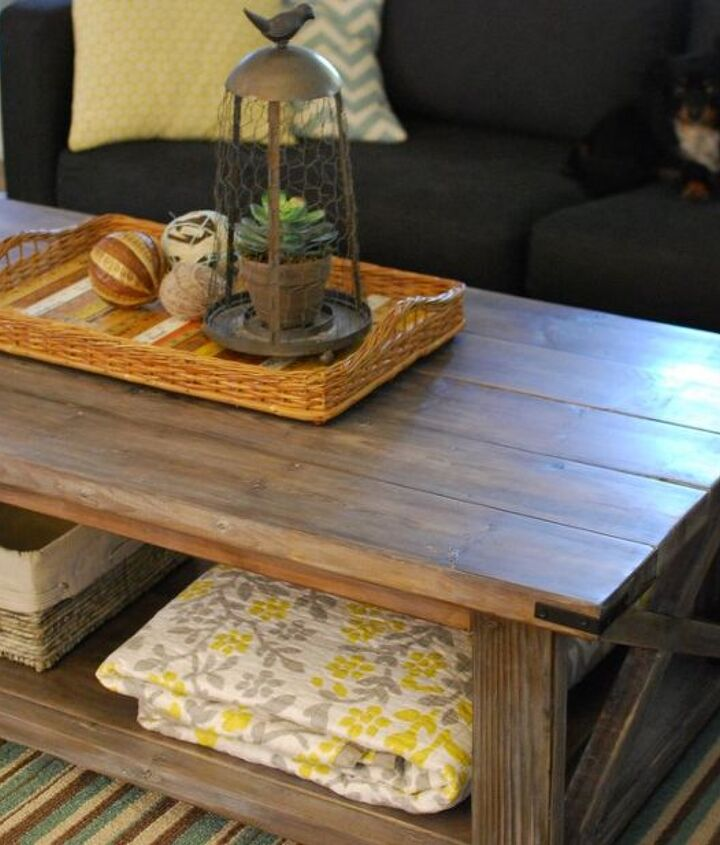 diy rustic coffee table, home decor, painted furniture, rustic furniture