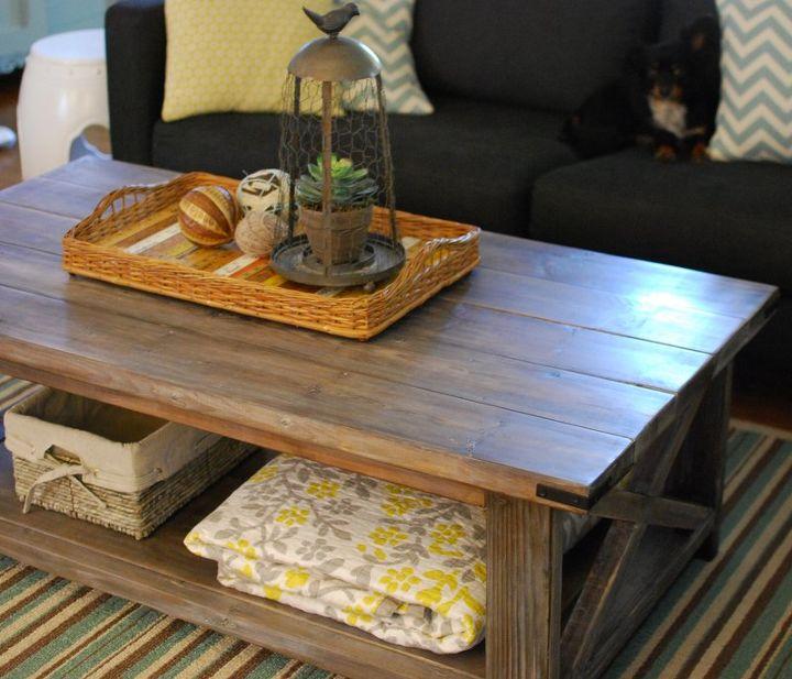 Rustic Storage Coffee Table Diy: DIY Rustic Coffee Table