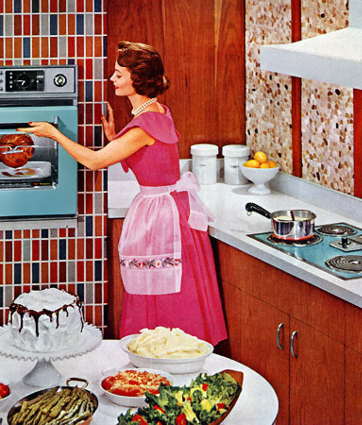 Here's my kitchen inspiration, a Hotpoint kitchen from 1959 (my house was built in 1960). Stay tuned to see how close I come.