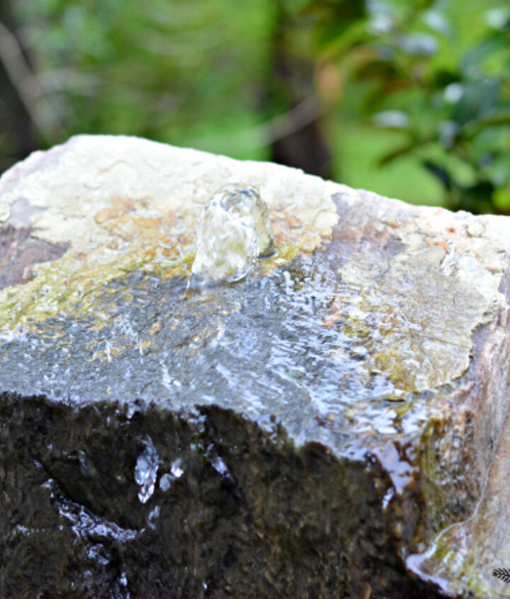 a bubbling rock water feature and mini yard tour, gardening, landscape, ponds water features