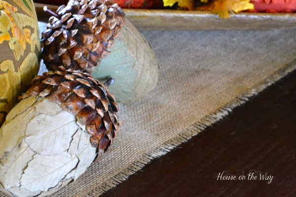 This burlap table runner is affordable and easy to create.