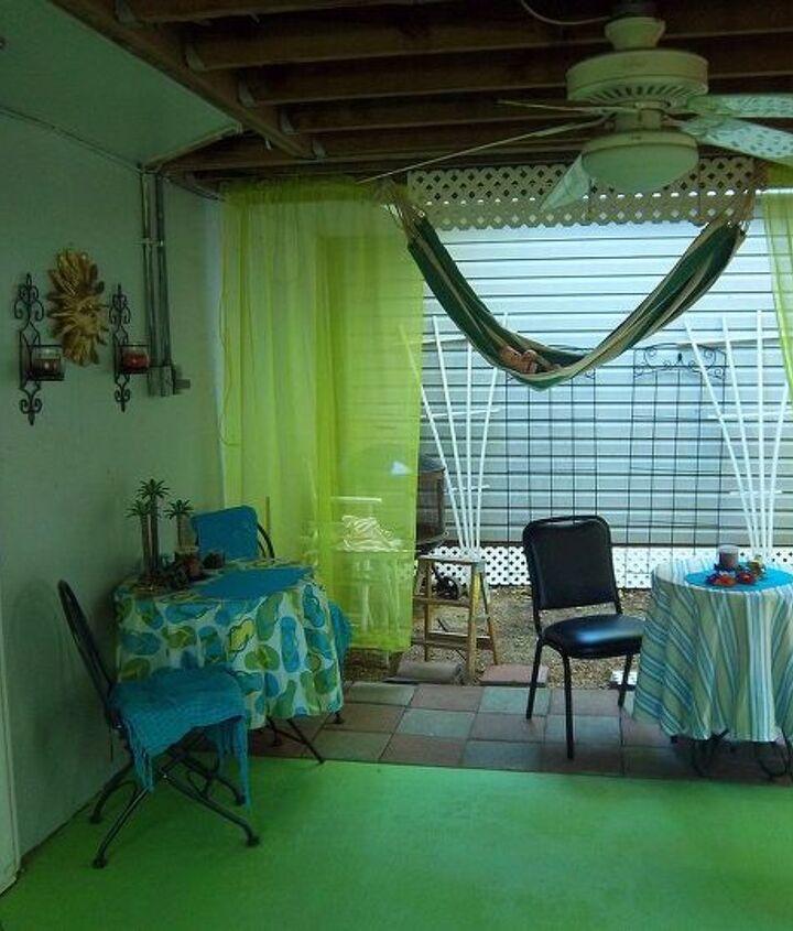 redecorating under the deck, decks, outdoor living