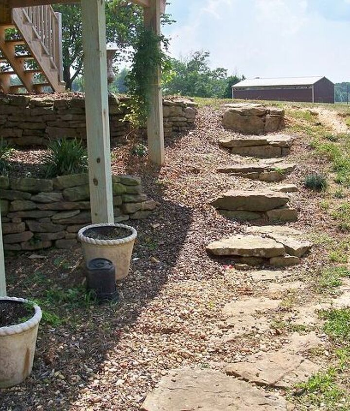 q need landscaping suggestions for the area under and around my deck i had a stone, decks, landscape