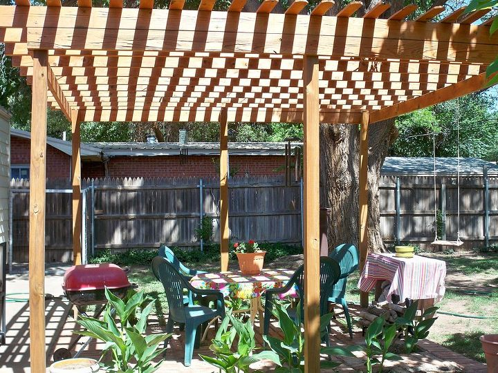 trellis in my yard, decks, outdoor living