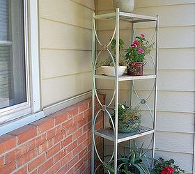 Metal Shelving To Garden Rack, Flowers, Repurposing Upcycling, After Paint  And All My