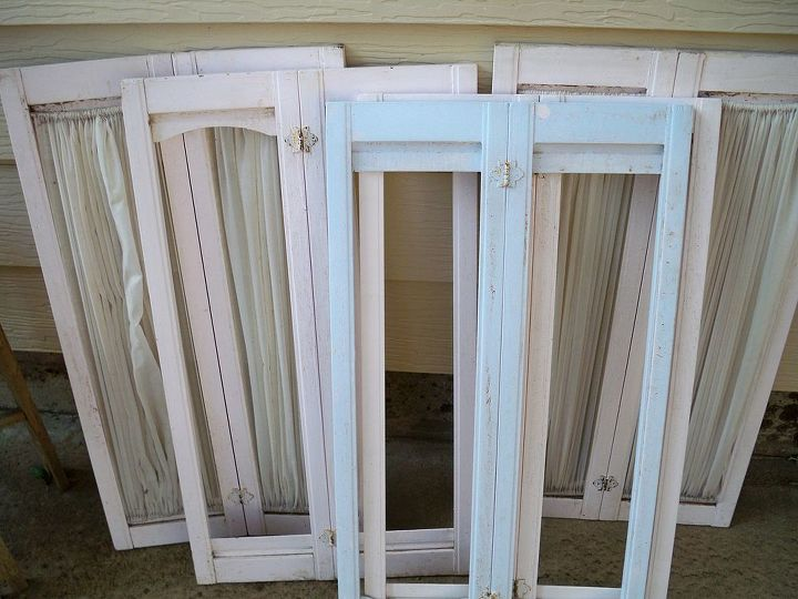 The old shutters I plan to hinge together to make half circle