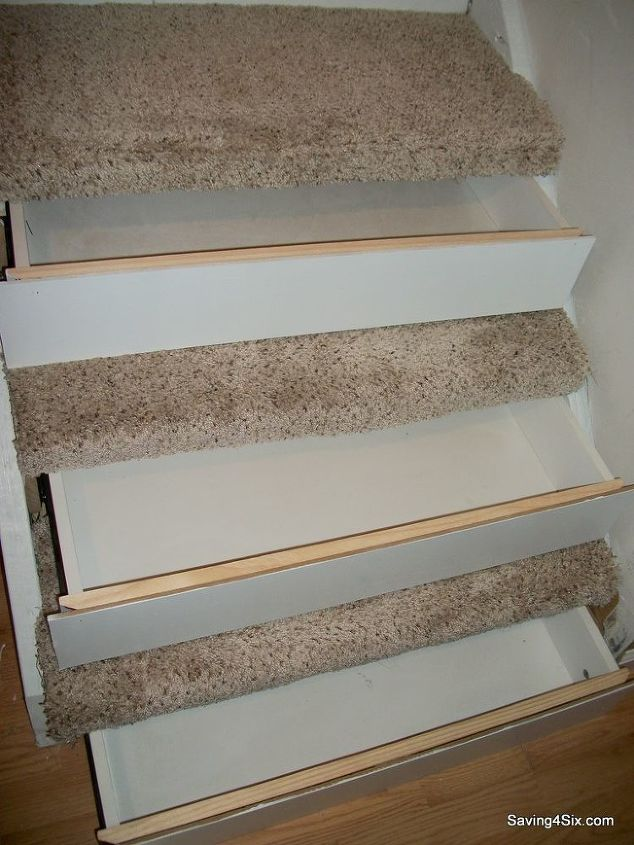 drawers in the steps, repurposing upcycling, stairs, storage ideas