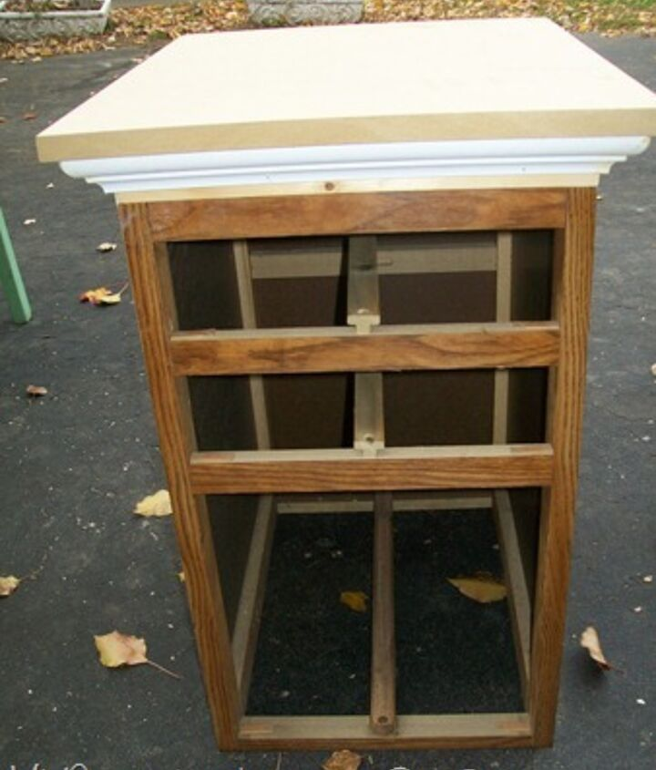 repurposed desk into chest, home decor, painted furniture, repurposing upcycling