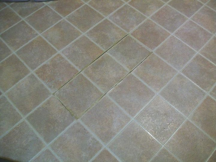 how to paint outdated linoleum floor, flooring, painting, Kitchen Floor BEFORE I ve had this floor for almost 20 years It was not in my budget to replace it I had seen people paint their wood floors so I decided to try to paint my vinyl linoleum floor