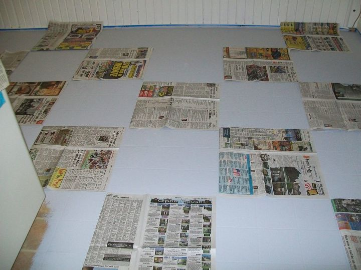 To get a good feel for the pattern I used newspapers.