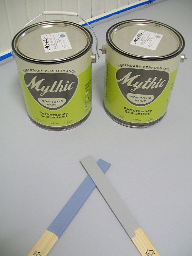 I used Mythic paint.  It went on really well, and 18 months later, is holding up fantastic.  I don't like shiny floors-I chose the original floor for THAT reason. It was dull.  I chose a satin paint, and decided not to seal the paint.