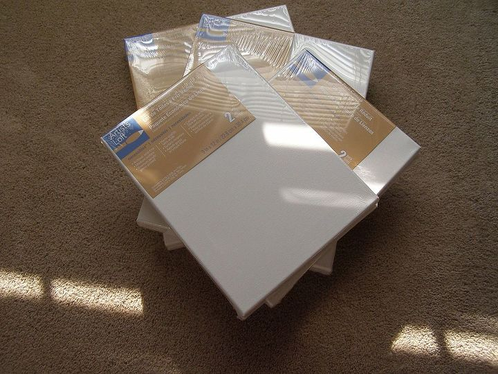 Purchase an assortment of canvas boards.