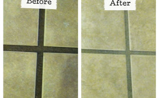 the best way to clean grout ever, cleaning tips, tiling, Before and After using the Grout GrimeBuster 3000