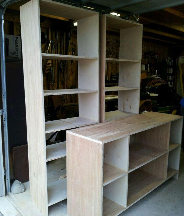 new entertainment center, painted furniture, woodworking projects