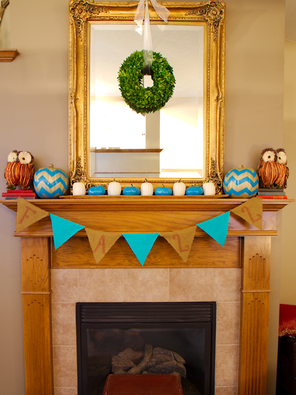 Turquoise Fall Mantel