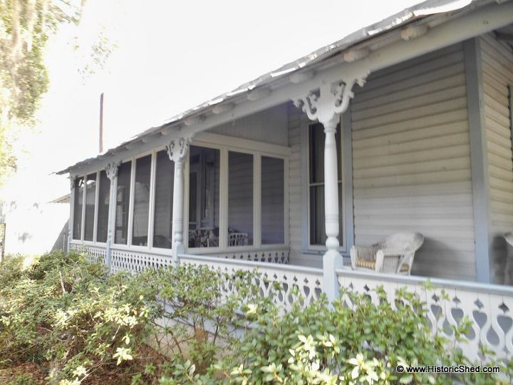 Folk victorian porch enclosure hometalk for Homes with verandahs all around