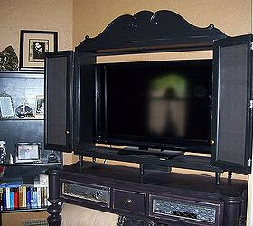 Incroyable A Unique Tv Cabinet From Odd And Ends, Doors, Home Decor, Kitchen Cabinets