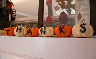 give thanks cinnamon clove pumpkins centerpiece tablescape decor, home decor, seasonal holiday decor, thanksgiving decorations