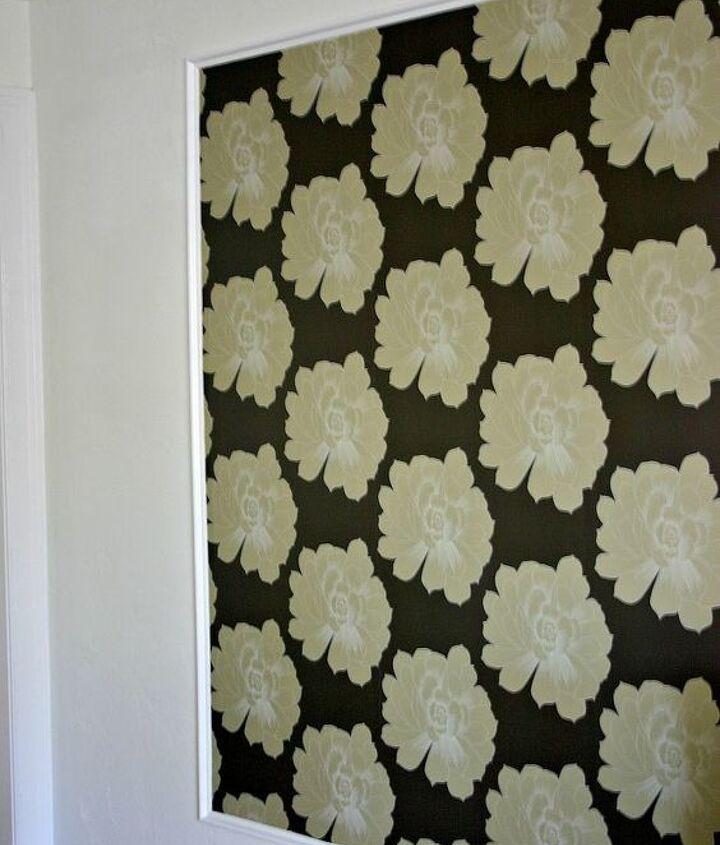 Then wallpaper inside the frame.