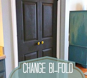 How to turn a bifold door into a double door Hometalk