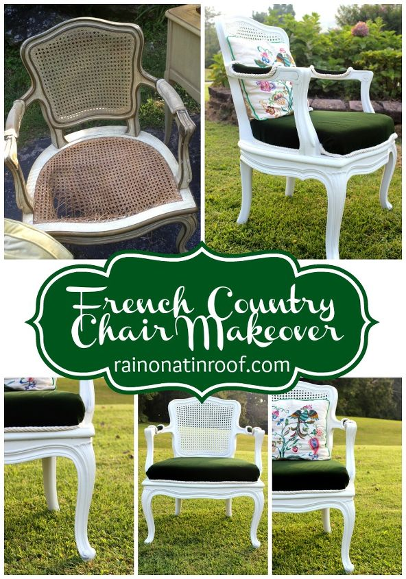 french country chair makeover, painted furniture, reupholster, woodworking projects