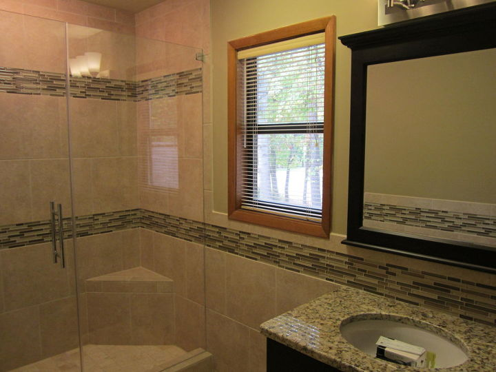 we can really do a lot with a small space, bathroom ideas, Big Finish for a small Bath We just completed this