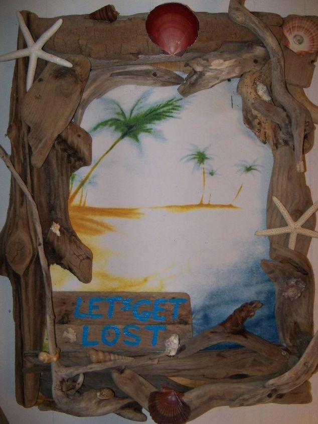 driftwood art, crafts