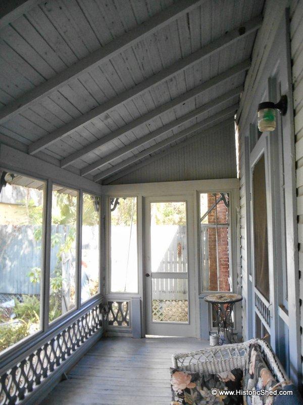 The interior of the porch,
